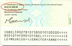 Ihre Nationalregisternummer